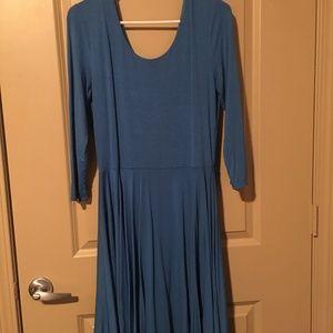 Royal Blue 3/4 Sleeve Dress